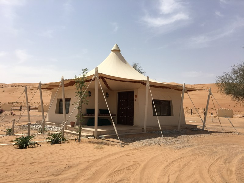 The Desert Night Camp in Sharqiya Sands Oman - luxurious camping glamping in the desert