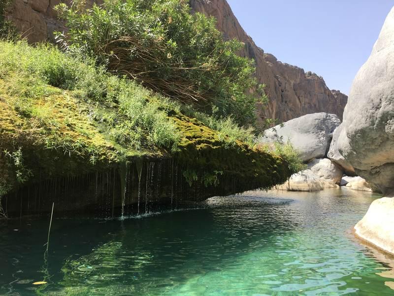 Wadi Damm paradise on earth hidden waterfall and pool Oman