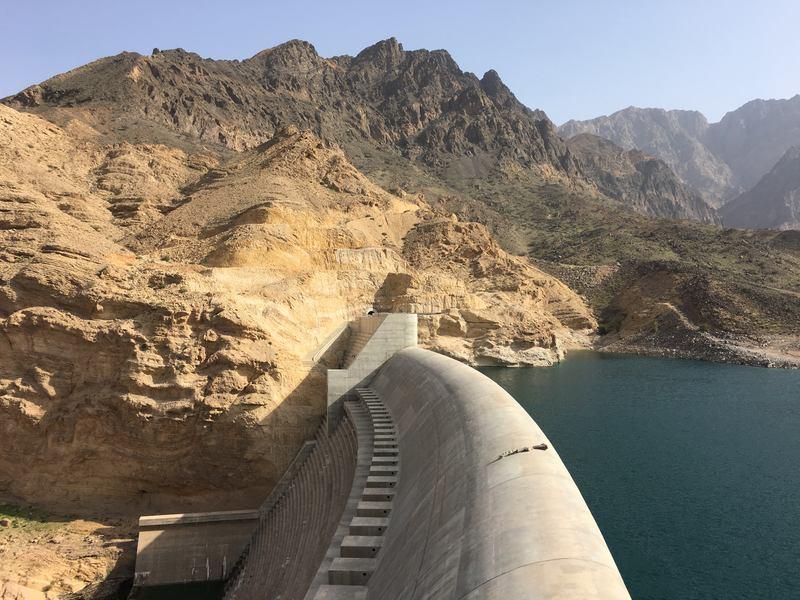 Wadi Dayqah dam largest dam in Oman landmark
