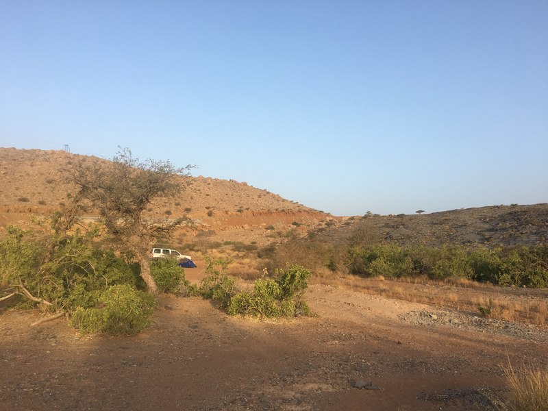 campsite near Hoota Cave Oman suitable for saloon car 2wd