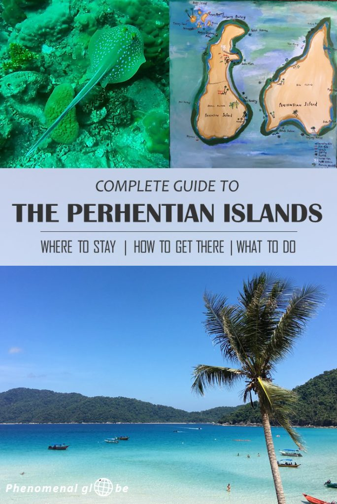 Complete guide to the tropical Perhentian Islands on the east coast of Malaysia: where to stay, how to get there & what to do. The Perhentians are famous for scuba diving and snorkeling, the underwater world is absolutely amazing! The beaches are pure white sand and the ocean is a vivid blue. A perfect place to relax for a couple of days! #Malaysia #PerhentianIslands #ScubaDiving #Snorkeling