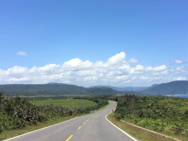 Empty road in Kenting National Park Taiwan