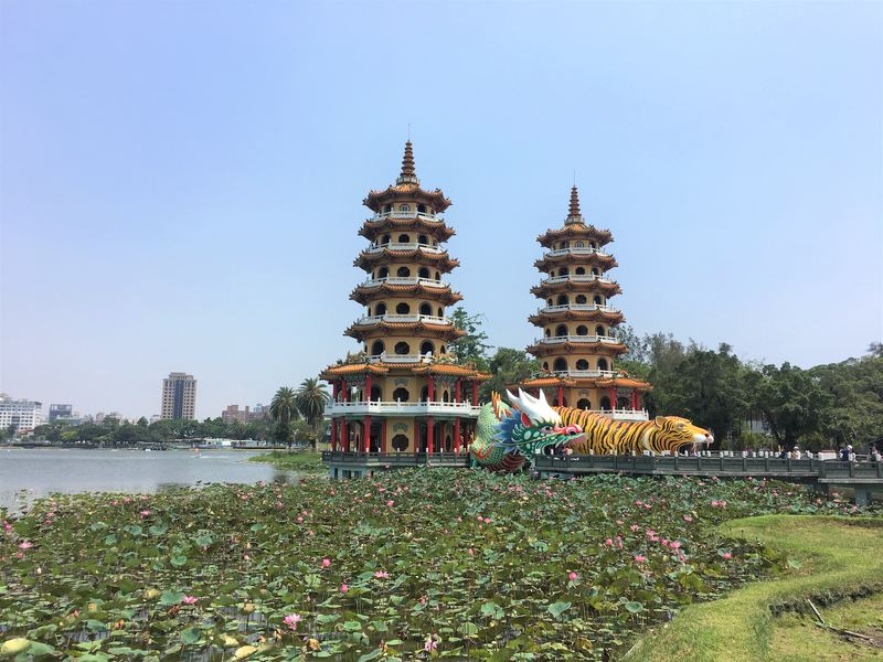 The Dragon and Tiger Pagodas at the Lotus Pond in Kaohsiung