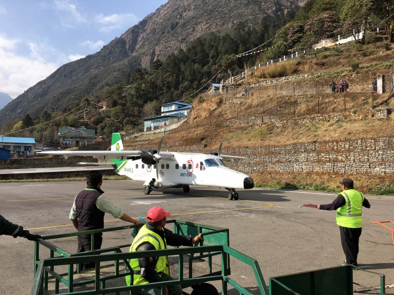Flight from Lukla to Kathmandu what to expect - scary