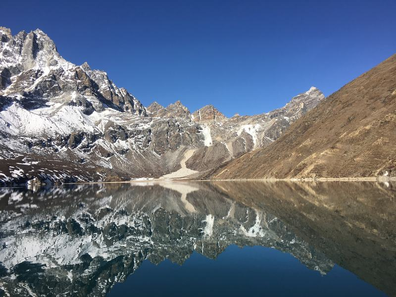 Gokyo lake mirror lake Everest Base Camp trek EBC trail hiking in Nepal