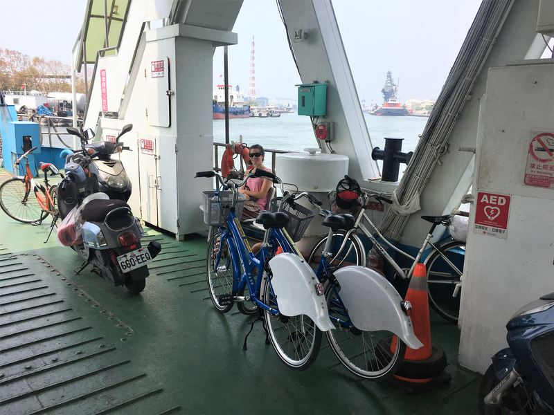 C-bike on ferry in Kaohsiung