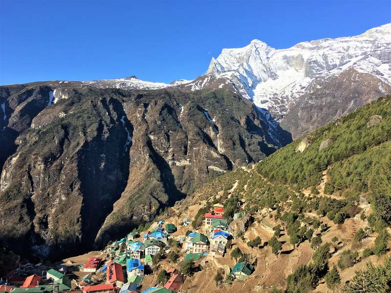 Jiri to EBC trek - Day 8 Monjo to Namche Bazaar