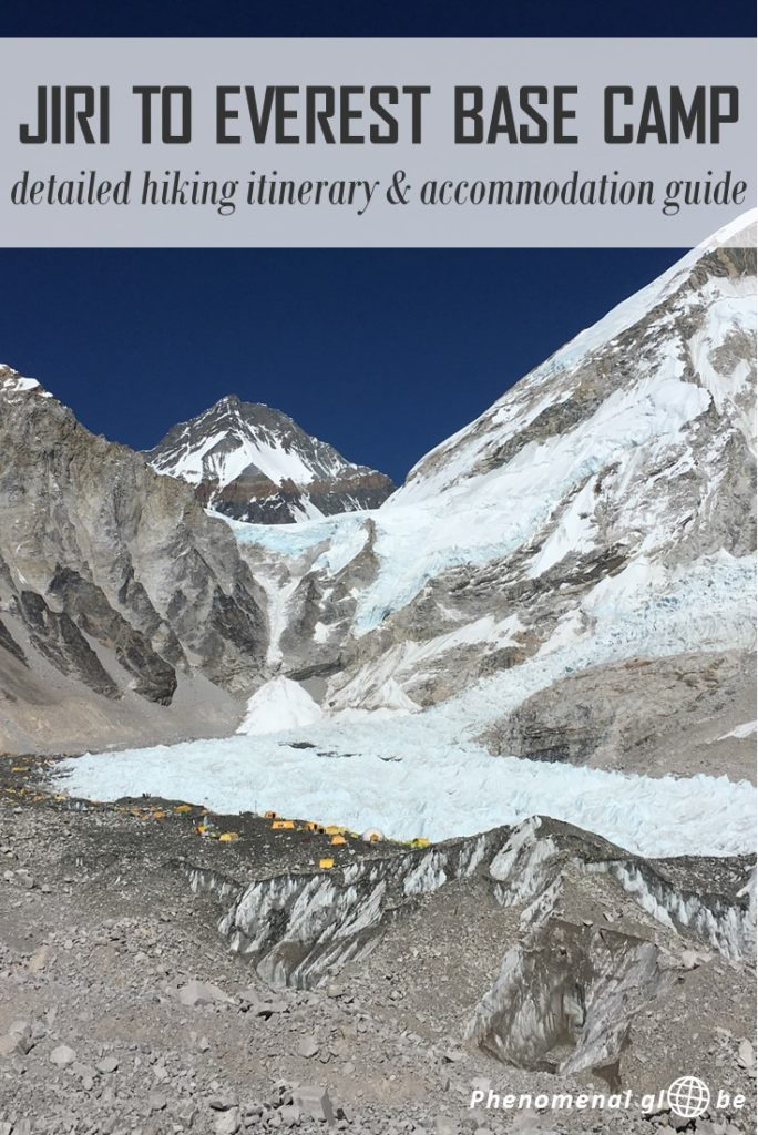 Planning to hike from Jiri to Everest Base Camp? Check out this detailed itinerary & accommodation guide to help you plan your Jiri To Everest Base Camp trek. Including hiking times, lodges along the trek, tips&tricks and printable list (with hiking times and height differences)! #Nepal #EBC #EBCtrek