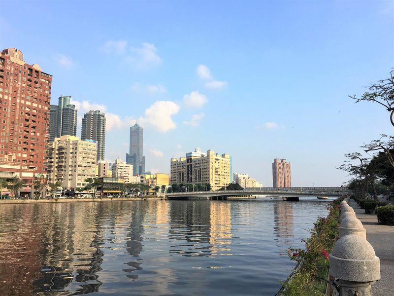 View over the Love River (also called Ai River) in Kaohsiung, Taiwan