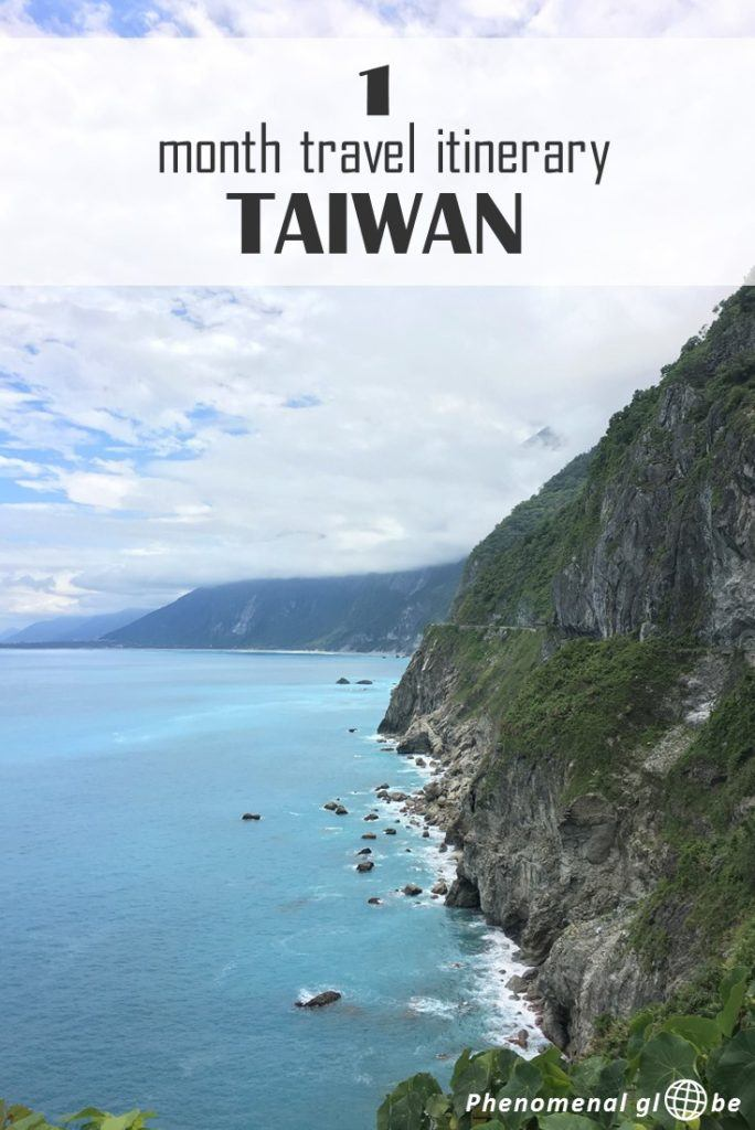 Complete guide to plan the perfect Taiwan trip: 1 month itinerary with highlights plotted on a map so it's easy for you to find them, detailed information how to get from A to B in Taiwan and useful travel tips how to make the most of your trip to Taiwan. Including Kaohsiung, Kenting National Park, Tainan, Taichung, Sun Moon Lake, Taipei and Hualien (Taroko Gorge). #Taiwan #Asia