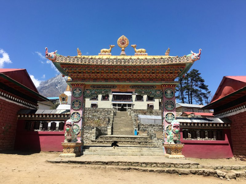Tengboche Monastery Everest Base Camp trek - hiking in Nepal