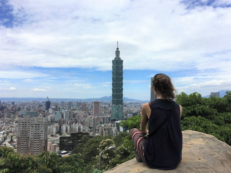 View over Taipei and the Taipei 101 from the Elephant Mountain