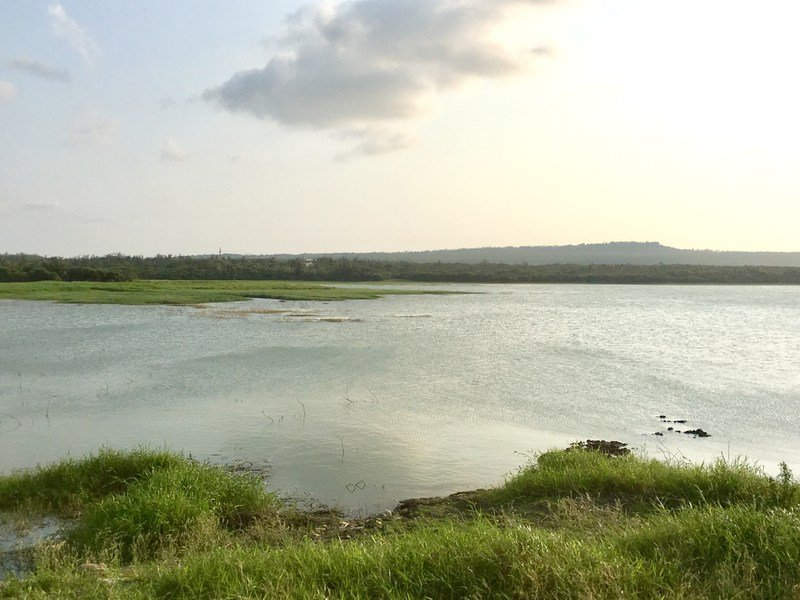 Longluan Lake in Kenting during Golden Hour