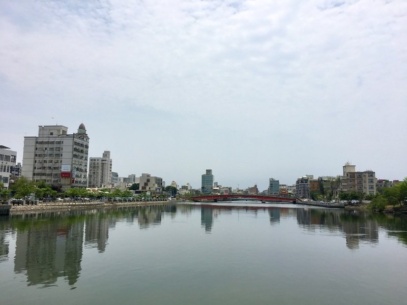 View over Tainan from the river