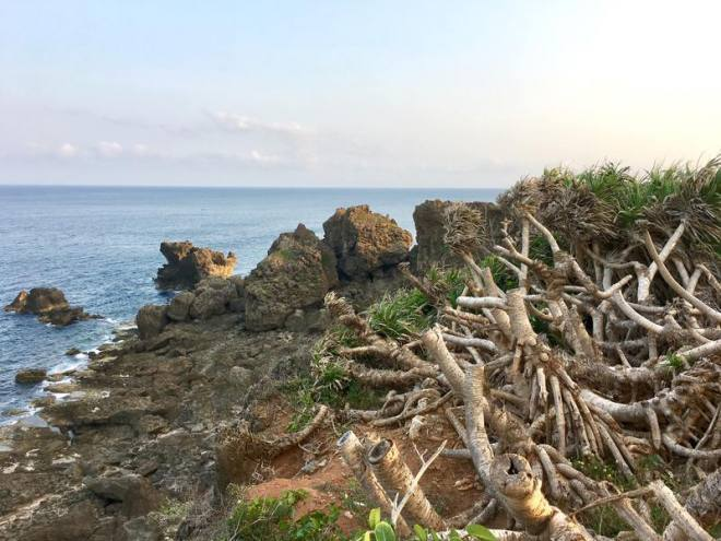 The wild coast at Maobitou Park in Kenting Park Taiwan
