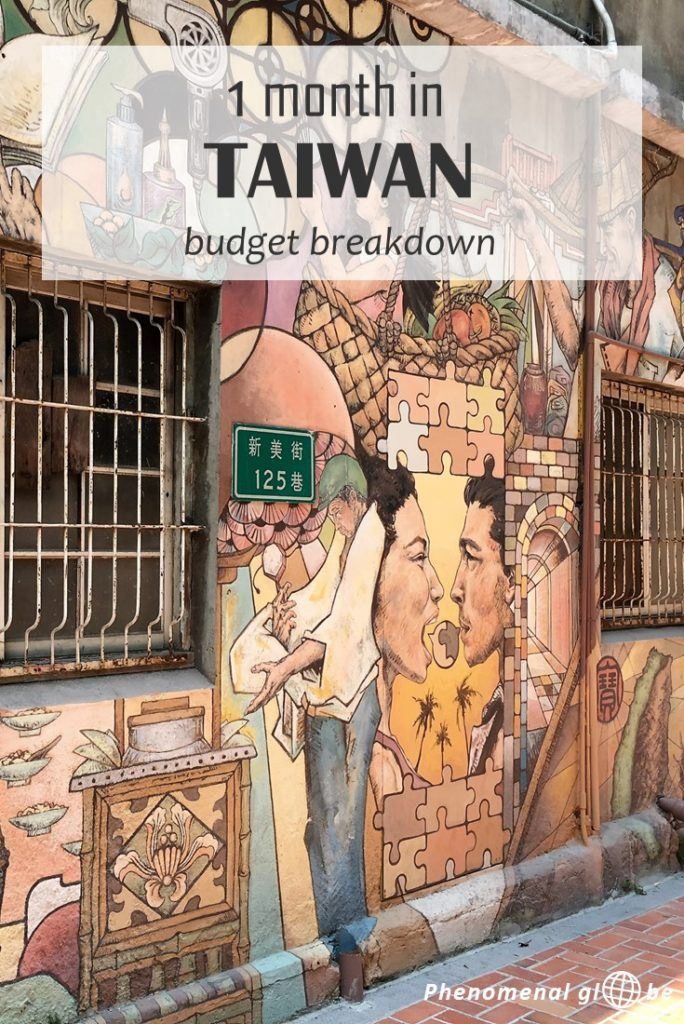 How to travel Taiwan on a budget! We spent €63/$69 per day during our 1-month trip. Read all about the costs for accommodation, transport, food & activities. #Taiwan #TravelBudget