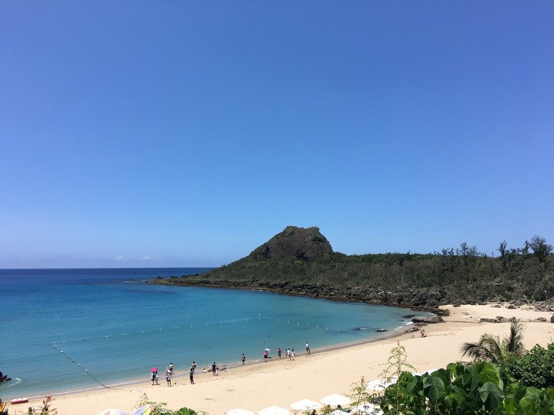Kenting beach, a popular place to visit in Kenting town