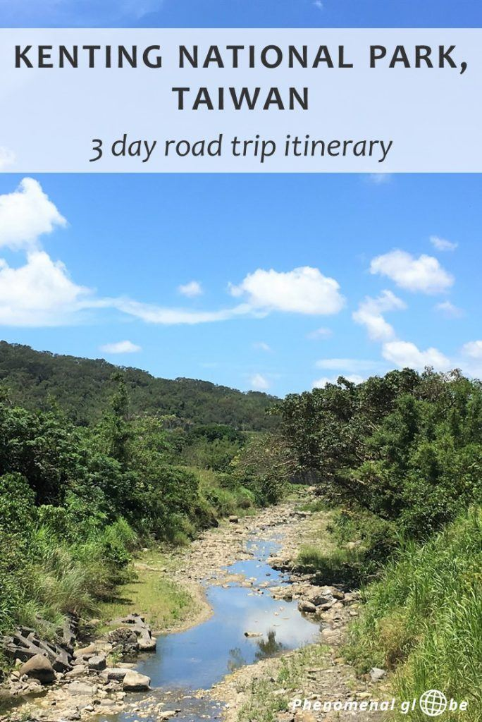 Read how to spend 3 perfect days in beautiful green Kenting National Park, located in the South of Taiwan. Rent a scooter & follow this Kenting National Park 3-day itinerary! Also includes a map with all the best things to do in Kenting, where to stay and transport information (how to get from Kaohsiung to Kenting National Park). #Kenting #Taiwan #travelitinerary