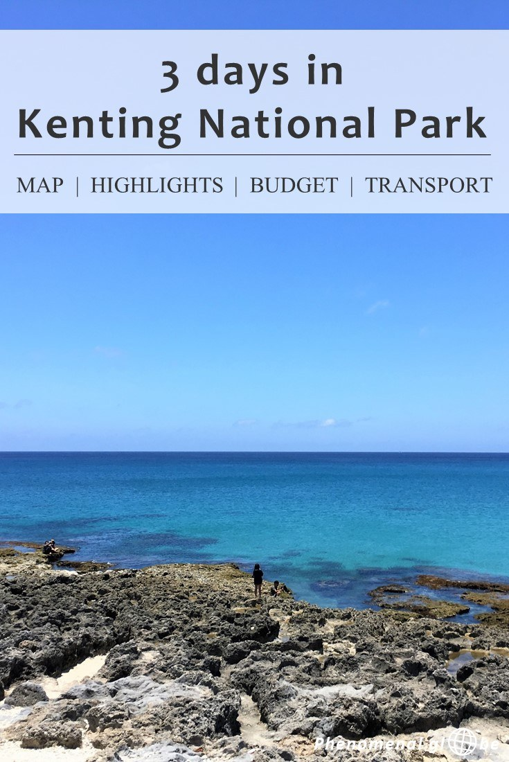 Spend 3 perfect days in beautiful green Kenting National Park, in the South of Taiwan. Rent a scooter & follow this Kenting National Park 3 day itinerary! Also includes a map with all the highlights, advice about accommodation and transport information (how to get from Kaohsiung to Kenting National Park). #Taiwan #Kenting
