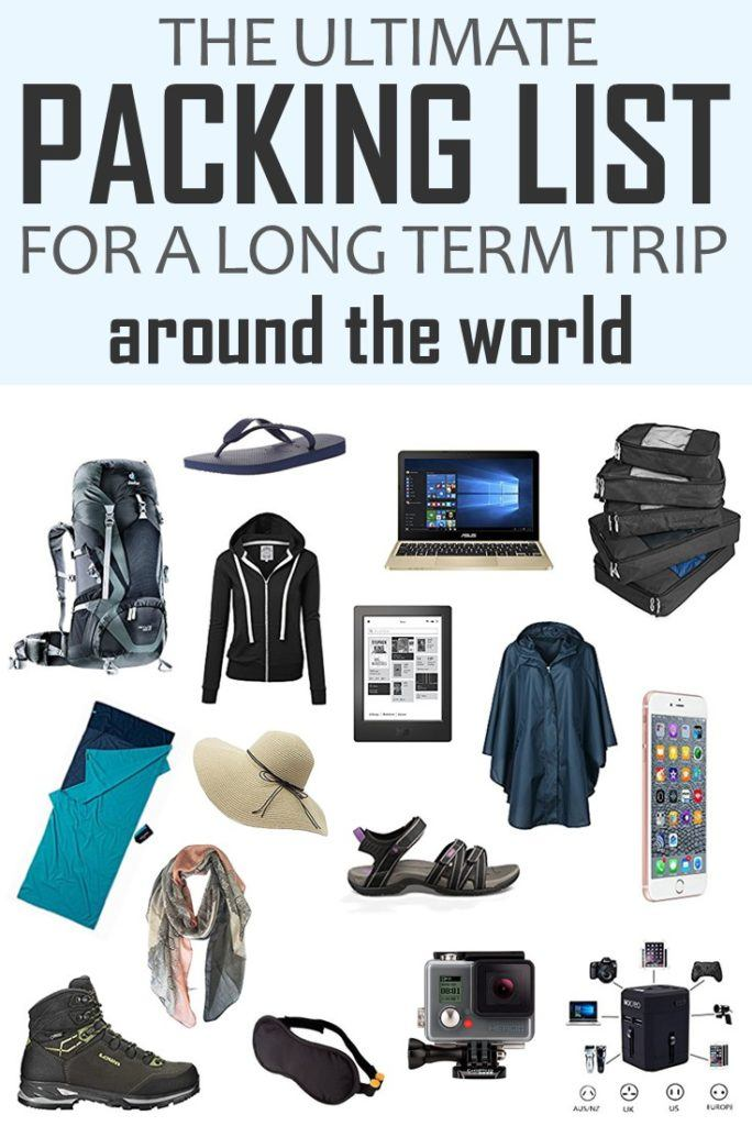 The Ultimate Packing List For A Long Term Trip Around The World! Click to learn how to pack your bag for a long-term trip around the world. Tried and tested list + a printable pdf to help you to pack your bag like a pro. **************************************************************************** Pack For A Trip Around The World | Packing List Long Term Travel | How To Pack For Long Term Travel | Packing Tips | #PackingList #travelpacking