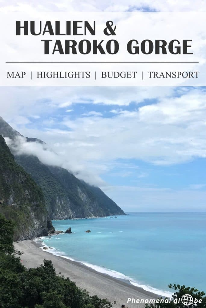 Spend 3 perfect days in Hualien and Taroko National Park, on the East Coast of Taiwan. Rent a scooter & follow this 3-day itinerary! Includes a map with all the highlights, travel budget, advice about accommodation and transport information (how to get from Taipei to Hualien and from Hualien to Taroko Gorge). #Hualien #TarokoGorge #Taiwan
