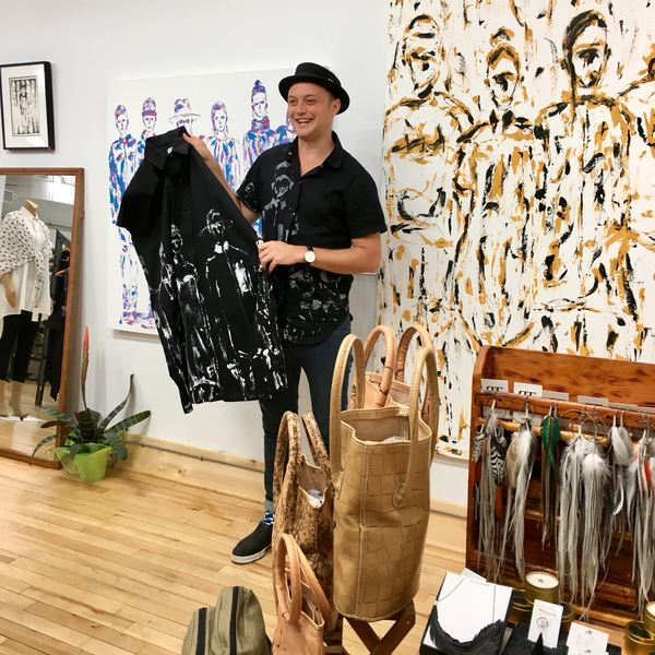 Lennard Taylor owns a cute boutique shop in the Exchange District in Winnipeg