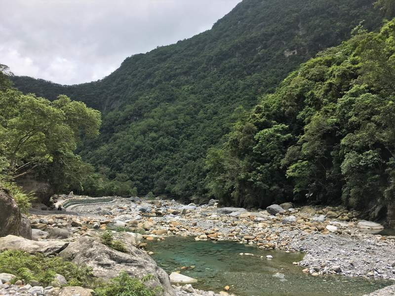 Shakadang Trail in Taroko Gorge National Park Taiwan Hualien East Coast