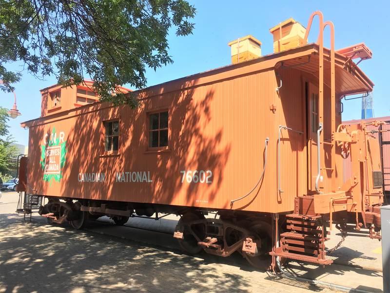 An old Canadian Pacific Railway wagon in Winnipeg