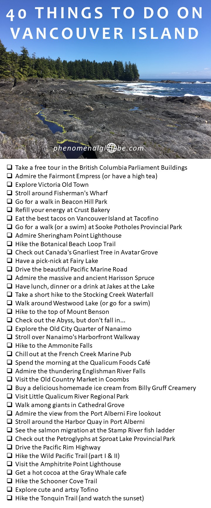 Check out these 40 amazing things to do on Vancouver Island! #VancouverIsland #Canada