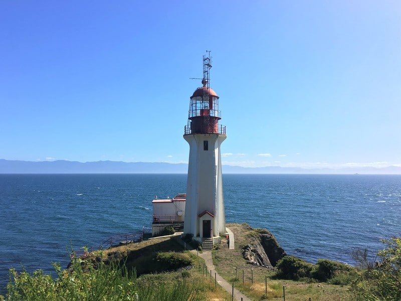 Attraction on Vancouver Island - the Sheringham Point Lighthouse