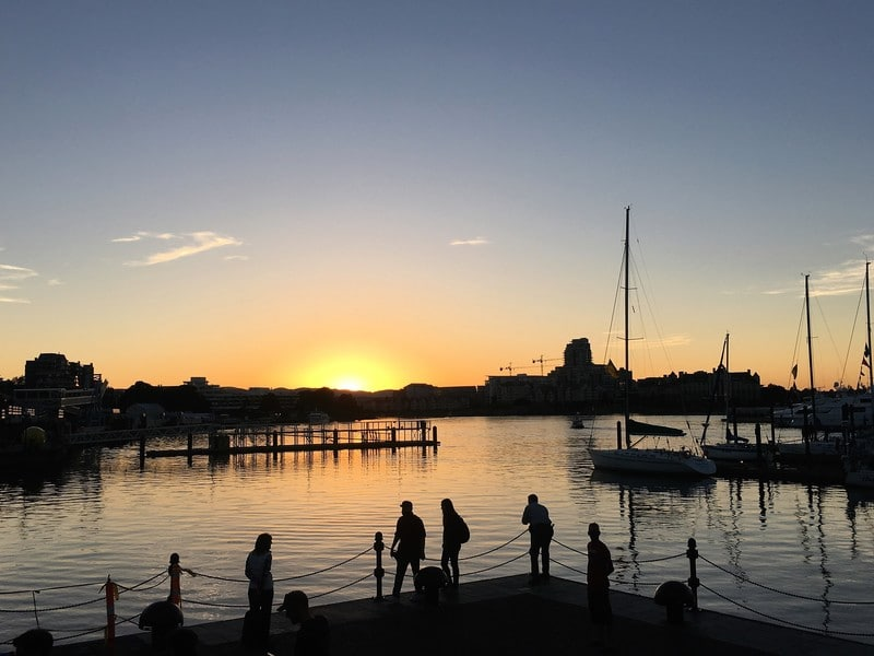 Sunset from Inner Harbour in Victoria