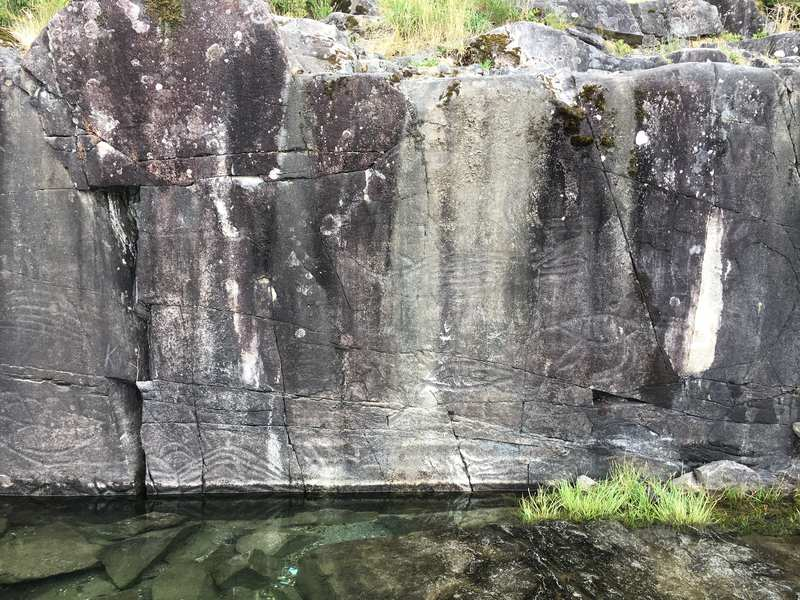 K'ak'awin - best preserved petroglyphs in British Columbia