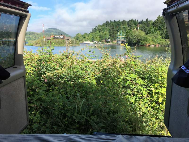 Places To Stay On Vancouver Island - Free camp spot with camper van on Vancouver Island