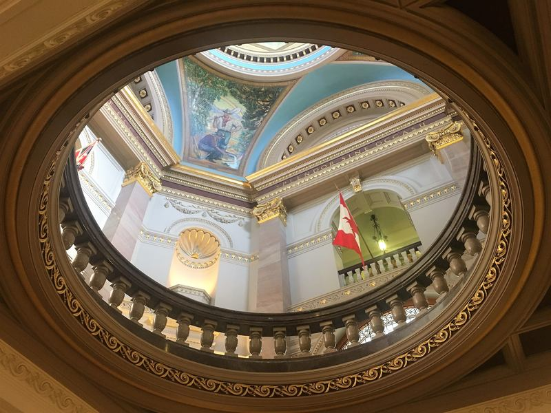 free tour in the British Columbia Parliament Building Vancouver Island Canada