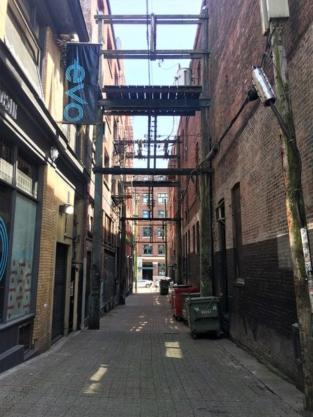 Discover the alleys of Gastown Vancouver