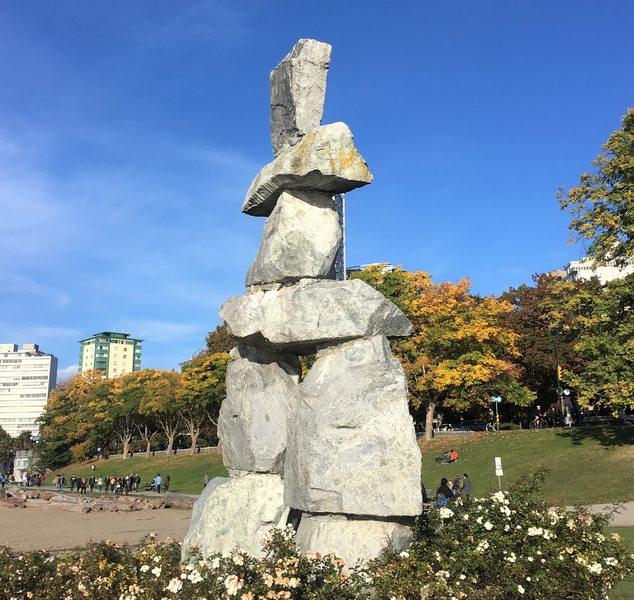 Free art in Vancouver - Inukshuk