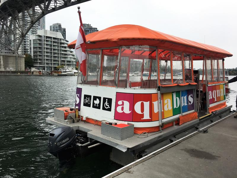 How to get around in Vancouver - how does the Aquabus work - getting from Hornby street to Granville Island Public Market