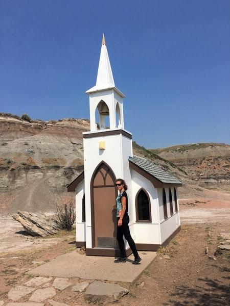 The Little Church North Dinosaur Trail - what to do in Drumheller Alberta
