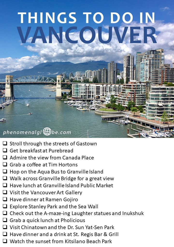 Things to do in Vancouver, British Columbia, Canada. The ultimate city trip guide to Vancouver, including top things to see and do, where to eat and where to stay! Perfect 2-day itinerary including printable map. Visit Gastown, Canada Place, Stanley Park, Chinatown and more… #Vancouver #Canada #citytrip | Guide to Vancouver| Things to do in Vancouver