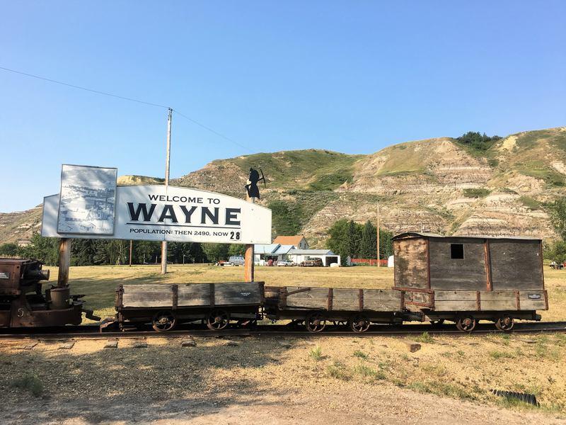 Wayne ghost town in Alberta Canada - Hoodoo trail Drumheller