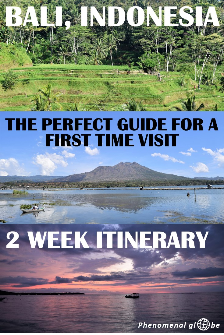 Visiting Bali for the first time? Check out this 2-week itinerary with best things to see and do on Bali, where to stay and how to get around on Bali. Itinerary includes detailed information about Sanur, Nusa Lembongan, Nusa Penida, Sebatu, Ubud, Canggu and Jimbaran + a printable map with Bali highlights. #Bali #Indonesia ***** Bali 2 Week Itinerary | Best Things To Do On Bali