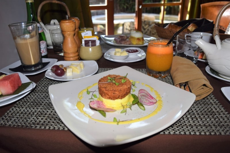 Best eggs benedict on Bali - signature dish at Jamahal resort