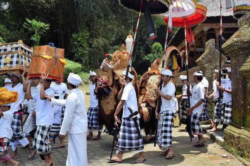 Galungan day Balinese religious ceremony