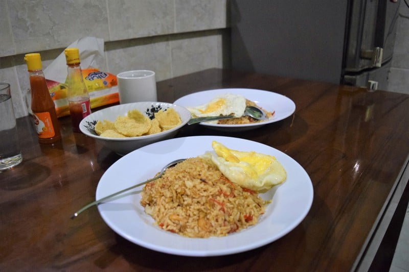 Home-cooked Nasi Goreng Bali homestay Sebatu with Duara Travels