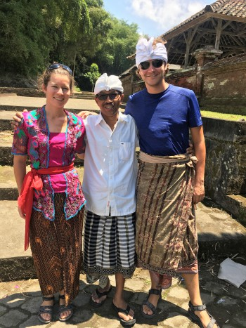 Traditional clothing for Balinese ceremony
