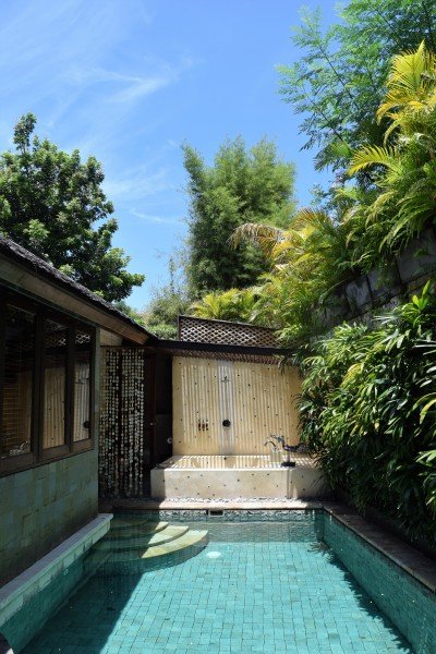 Our amazing private pool villa at Jamahal Private Resort and Spa Bali wedding anniversary