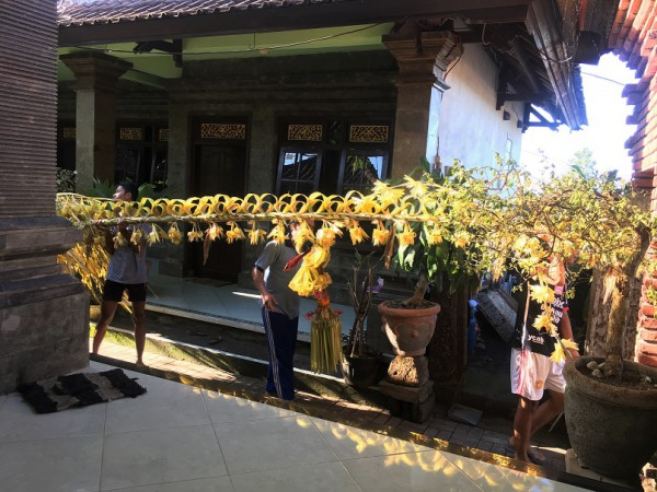 Penjor Galungan Day Balinese religious holiday
