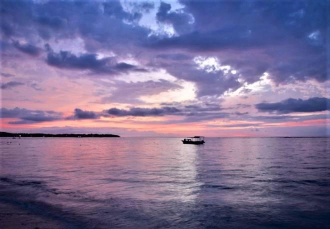 Sunset on Nusa Lembongan Bali Indonesia