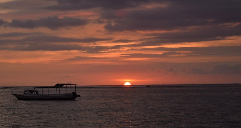 Sunset on Nusa Lembongan Bali - things to do on Lembongan island