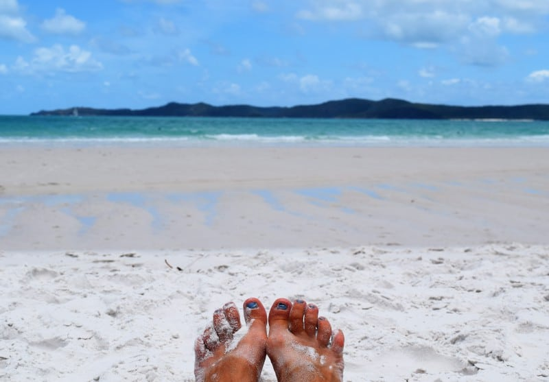 The white sands of Whitehaven beach in Australia a unique place in the world